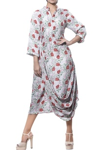 printed-tunic-with-cowl-pleated-drape