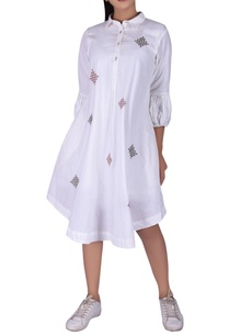 tribal-embroidered-shirt-dress