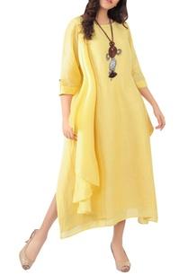 side-pleated-maxi-dress