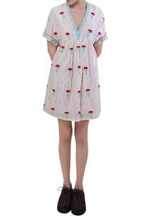 embroidered-short-midi-dress