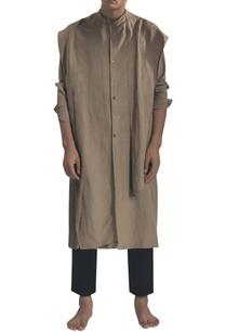 draped-kurta-with-button-placket