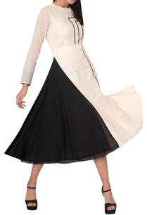 block-print-dress-with-waist-detail