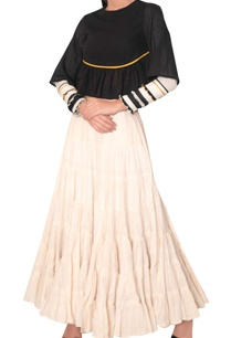 tiered-pleated-skirt