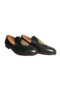 embroidered-motif-pure-leather-loafers