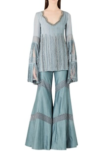 embroidered-long-kurta-with-flared-pants