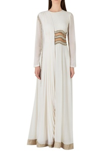 draped-style-jumpsuit-with-sheer-waist