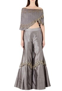 tassel-detailed-top-with-flared-pants