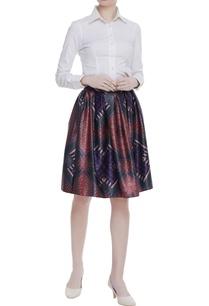 box-pleated-satin-skirt