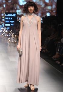 crepe-silk-bugle-bead-choker-neckline-gown