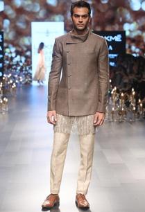 embellished-kurta-with-drape-jacket-and-trouser-pants