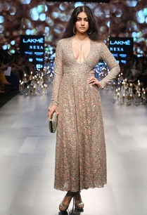 plunging-neckline-sequin-gown
