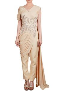 pleated-drape-tunic-with-trouser-pants