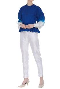 dual-color-peplum-blouse