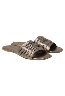 braided-detail-leatherette-flat-sandals