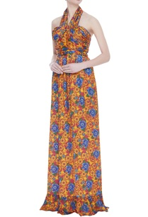 printed-halter-neck-gown