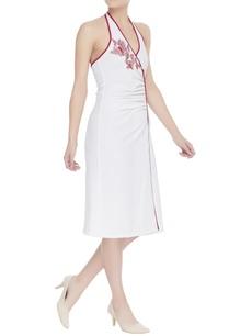 halter-neck-jersey-dress