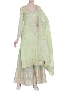 embroidered-kurta-with-palazzo-and-dupatta-with-diamond-embroidery