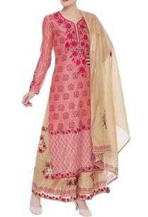 gota-embroidered-kurta-set