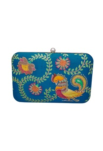 turquoise-blue-hand-painted-clutch