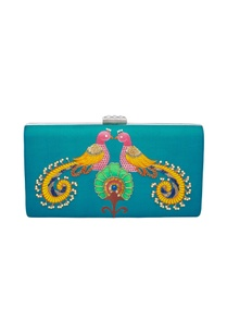 silk-embroidered-turquoise-clutch
