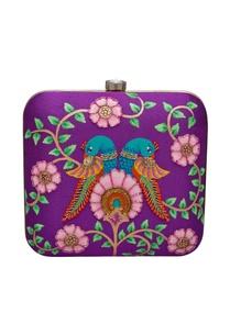 embroidered-brocade-square-box-clutch