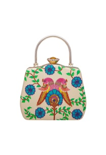 hand-painted-gold-box-clutch-with-handle