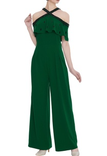 sequin-embroidered-cold-shoulder-jumpsuit