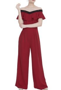 sequin-embroidered-off-shoulder-jumpsuit