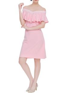 scuba-georgette-off-shoulder-dress