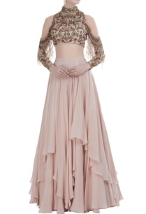 lehenga-with-cold-shoulder-hand-embroidered-blouse