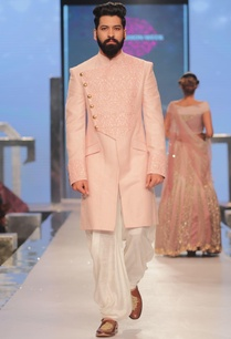 embroidered-sherwani-with-cowl-style-pants