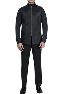 pleated-jacket-with-shirt-trousers