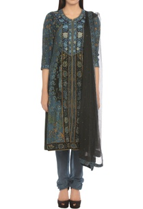floral-printed-kurta-churidar-set