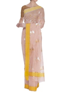 woven-chanderi-bird-motif-sari-with-unstitched-blouse