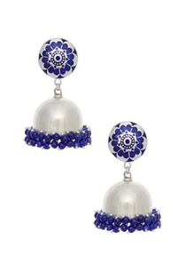 enamelled-silver-earrings