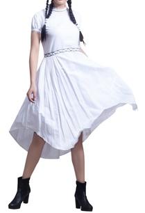 asymmetric-midi-dress-with-back-bow