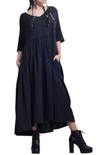 pleated-flare-oversized-dress