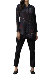 net-impression-print-layered-shirt