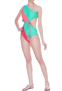 color-block-one-shoulder-monokini