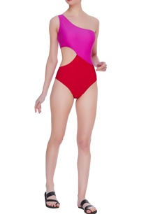color-block-one-shoulder-swimsuit