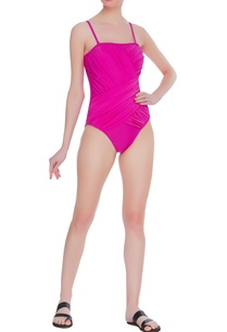 ruched-tube-swimsuit-with-detachable-straps