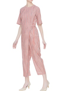 khadi-hand-spun-striped-jumpsuit