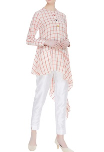 checkered-hand-spun-khadi-tunic