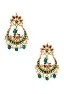 chandbali-meenakari-painted-earrings