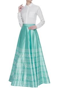 silk-box-pleated-skirt