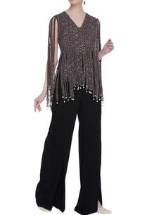 crepe-silk-net-handcrafted-sequin-tassel-cape-blouse-pants
