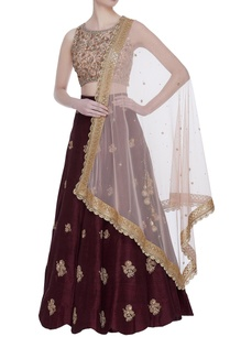 raw-silk-zardozi-sequin-embroidered-lehenga-set