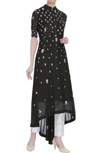 asymmetric-embroidered-kurta