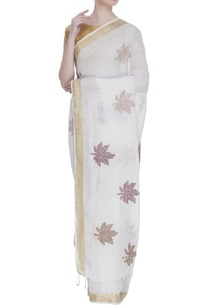 linen-sari-with-unstitched-blouse-fabric