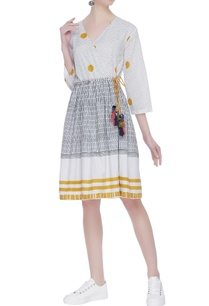 hand-block-printed-dress-with-colorful-tassels